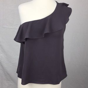 Ted Baker Amethyst One Shoulder Ruffle Blouse
